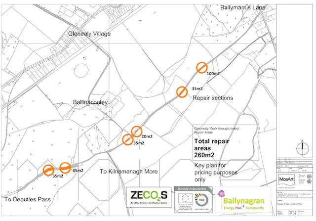 Proposed Path Repair Locations