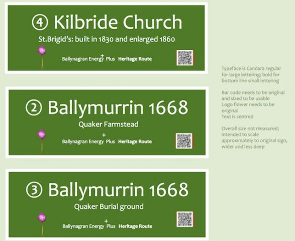 Proposed Heritage Route Signs