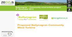 Draft Presentation of Wind Project by Tim Ryan