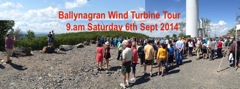 Notice – Ballynagran Energy Plus<rup>⁺</rup> Wind Turbine Tour, Sat 9am, 6th Sept.