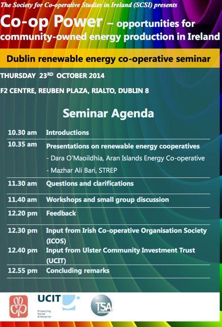 Co-op - Dublin Seminar Agenda