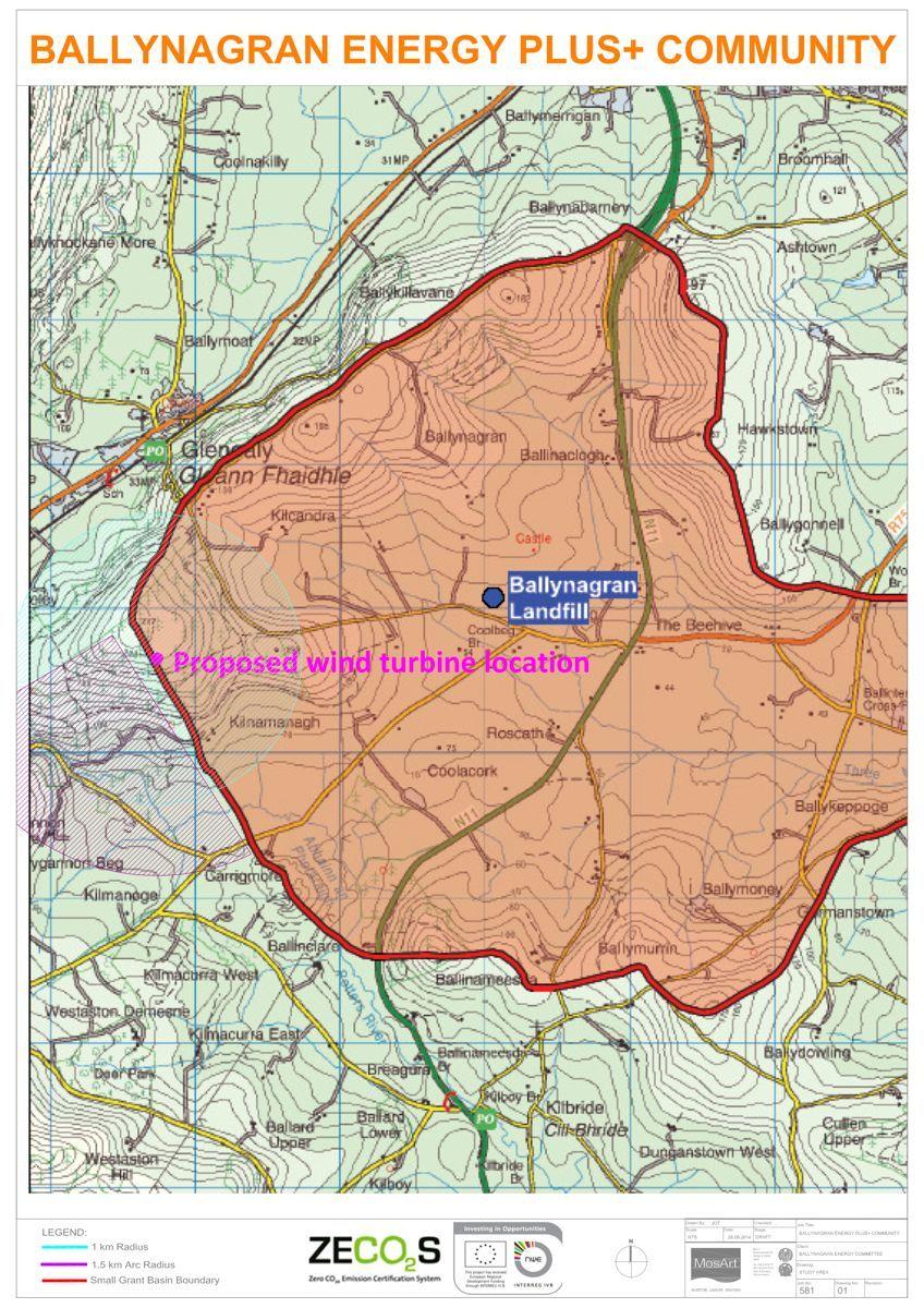 Small Grant Area and Proposed Wind Turbine Location