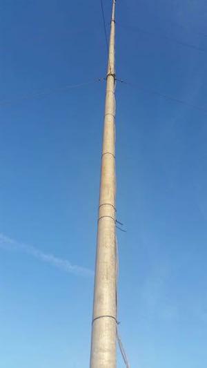 Met Mast Erected